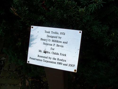 Trellis Plaque