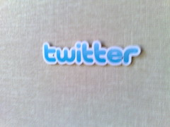 Twitter sticker at Twitter headquarters