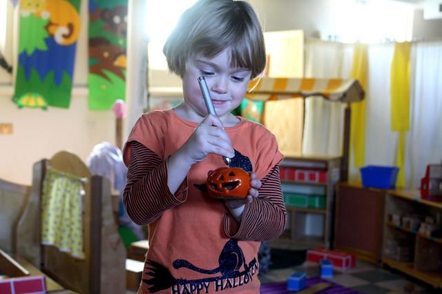 pumpkins at preschool - 8