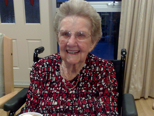 Grandma at her 99th birthday party