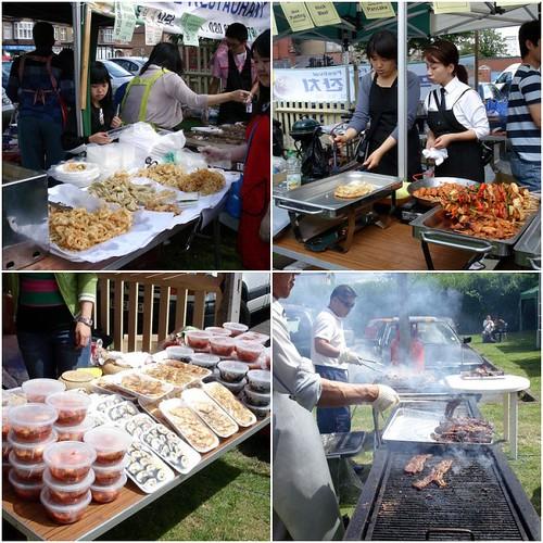 Korean Food Stall Mosaic