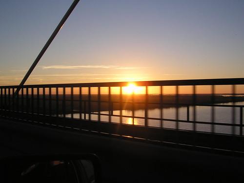 soleil couchant, en revenant à Buenos aires