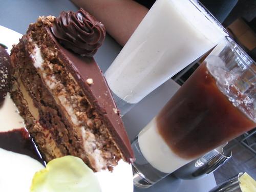 Cappacino cake slice