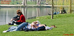 Relaxing on the Banks of Lac Daumesnil