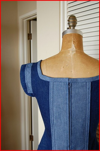 restyled denim dress