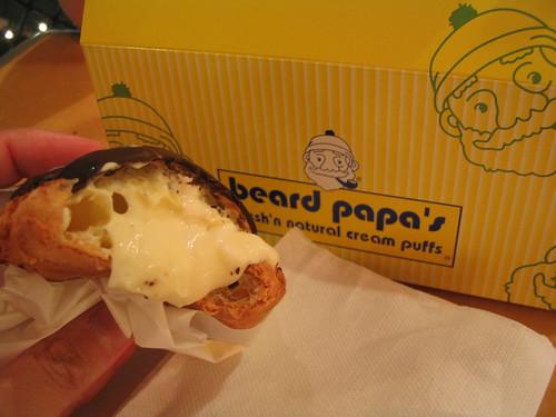 Beard Papa's eclair