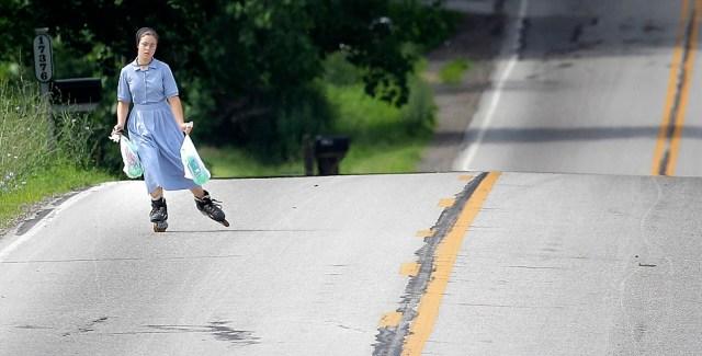 Amish Roller Blading