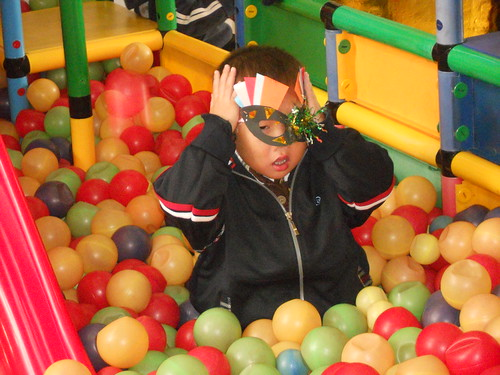 don't lose your mask in the ball pit