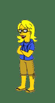 Simpsonized Sara