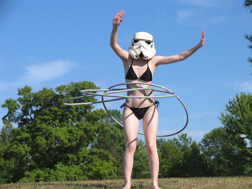 Sexy Stormtrooper Girl Hula Hoop
