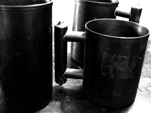 Grandpa Ed's copper cups
