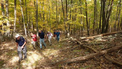 Crew ascending a hill