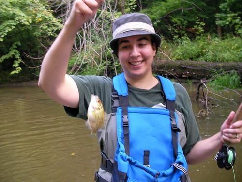 Jenny caught a fishie!