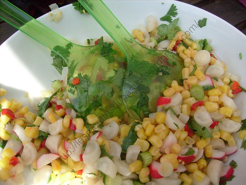 Salade mexicaine aux radis et au maïs / Radish and corn mexican salad