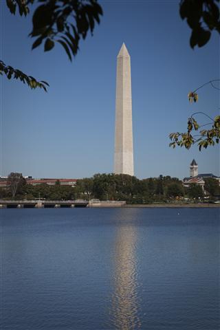Washington monument reflection