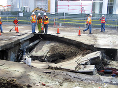 Sinkhole on First Street