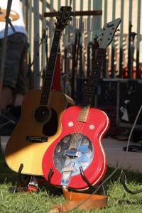 Hohner Acoustic & Supro Resonator At The Folk Festival (Takoma Park, MD)