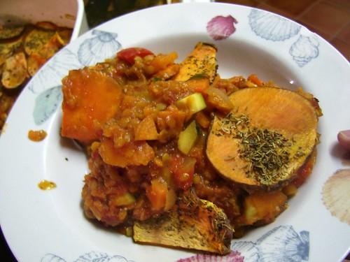 lentil veg bake