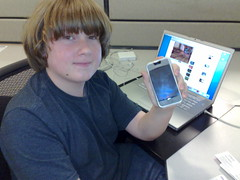 Patrick Scoble with an ugly Speck case