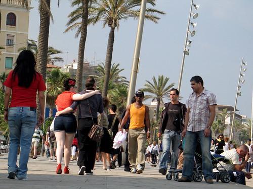 Paseando por la Barceloneta
