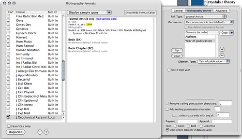 Editing Reference Styles in Sente 5