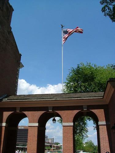 Le drapeau US.