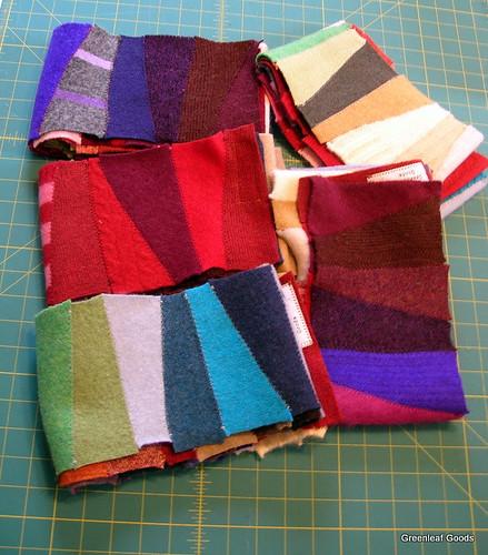 Prism short-row scarves