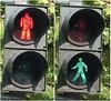 pedestrian light - red and green