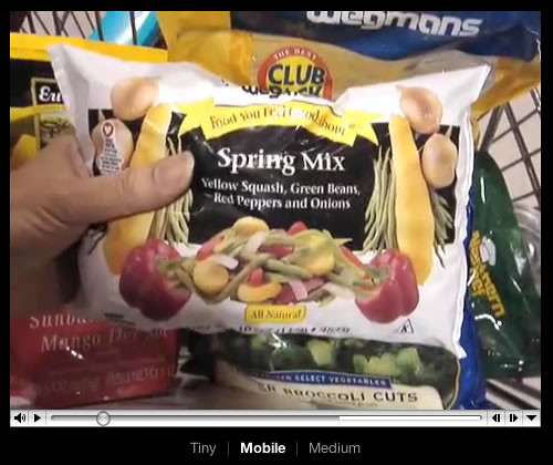 ".Mac Web Gallery ""Making Steamed Tilapia dinner"" video"