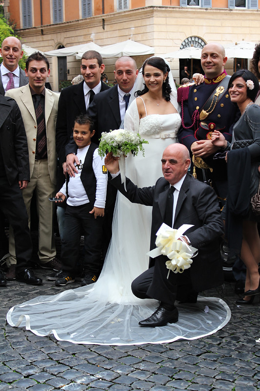 A wedding in Piazza S. Maria in Trastevere