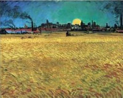 Vincent-Van-Gogh-Sera-D-Estate--Campo-di-grano-al-tramonto--1888-33152