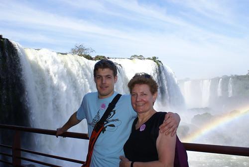 ik met mn ma, panorama blik aan Braziliaanse kant