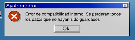 Error de compatibilidad interno.