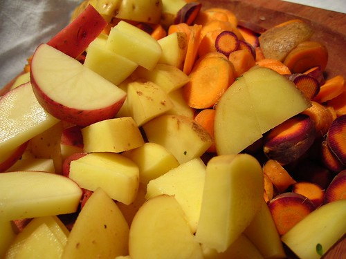 Potato and Carrot Slices