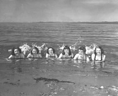 Women in the water at Qualicum Beach, Vancouve...