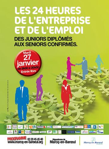 affiche des 24 h de l'entreprise et de l'emploi