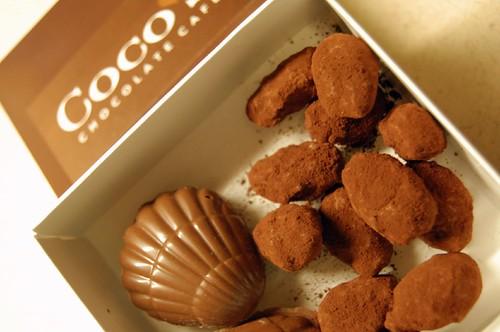 Chocolate for a taste test