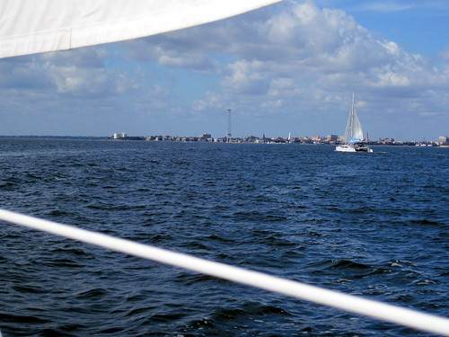 Nice motor sail across Charleston harbor