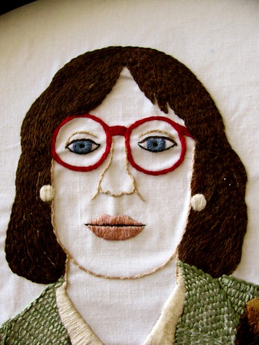 Self as The Log Lady (face detail)