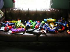 Couch Full of Nerf Guns