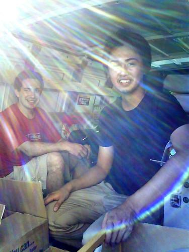 Ko and Joan in the minivan