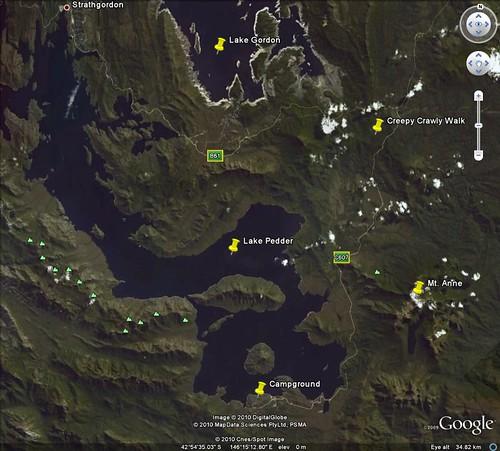 lake pedder google earth