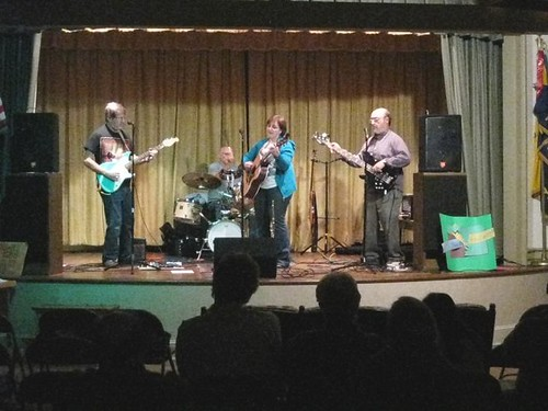 Grand Folk Railroad on stage at PeaceSmiths