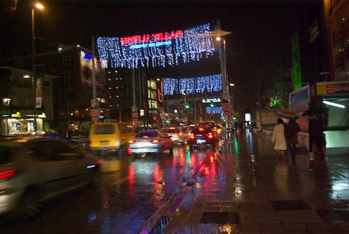 new year, Bagdat Avenue, Kadikoy Istanbul, Pentax K10d