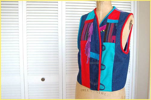 crazy patchy vest
