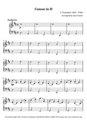 Pachelbel's Canon in D - Free Sheet Music for ...