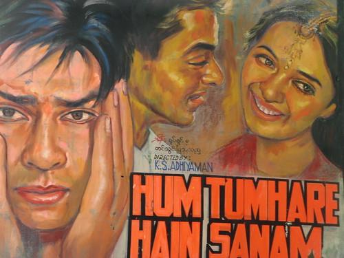 movie poster painting, rangoon