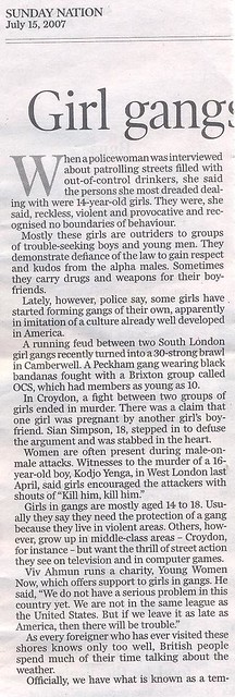 Girl gangs of Britain