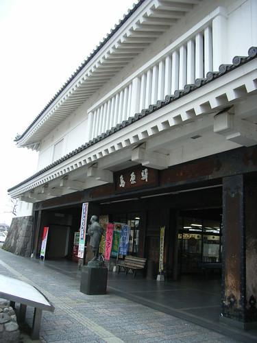 復古式外觀的島原車站