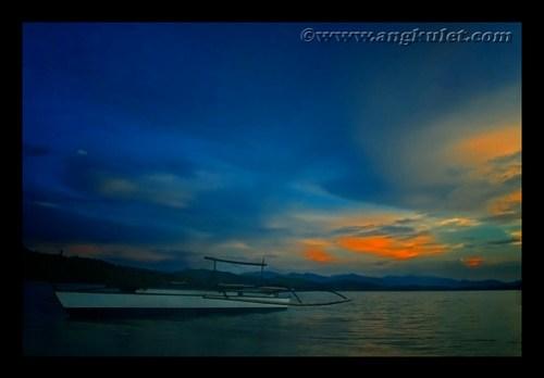 Sunset in Baticorao Island, Garchitorena, Camarines Sur